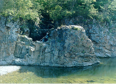 "A cliff by river ""Milogradovka"".; Actual size=400 pixels wide"