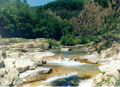 "River ""Milogradovka"", above waterfall, rapids.; Actual size=400 pixels wide"