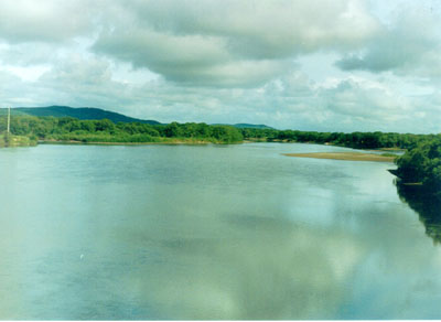 "Kirovkei area, river Ussuri, village ""Gornie Kluchi"".; Actual size=400 pixels wide"