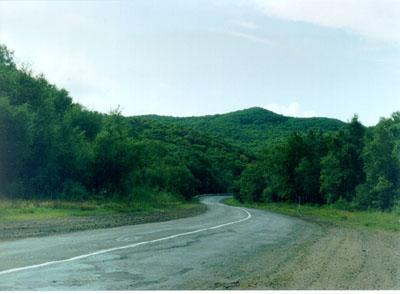 "Kirovkei area, village ""Gornie Kluchi"", Khabarovsk-Vladivostok state route.; Actual size=400 pixels wide"